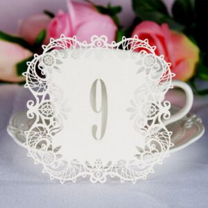 10 pcs Wedding Table Number